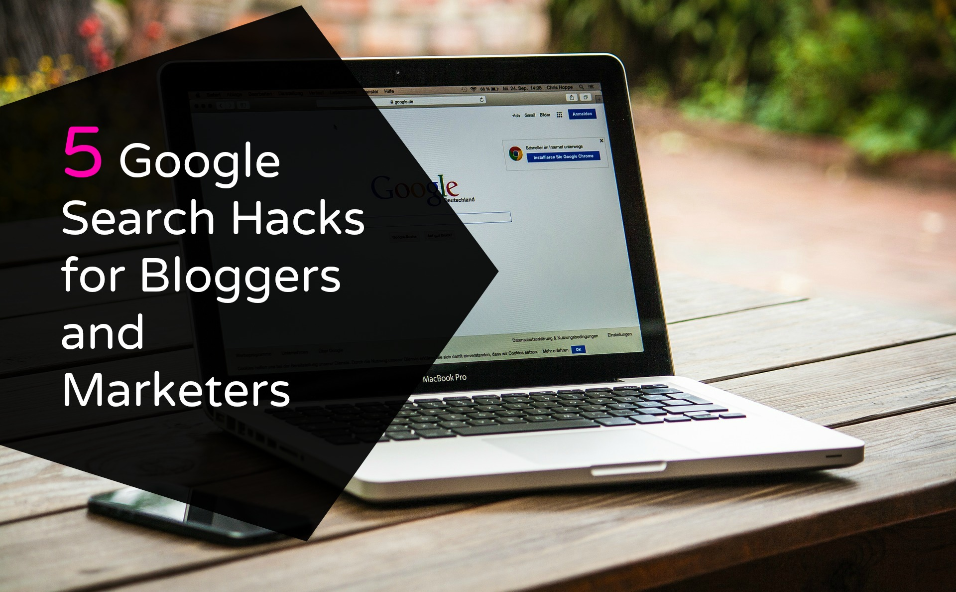 Google search hacks for bloggers