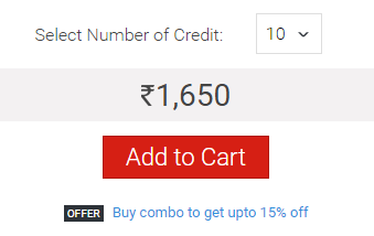 Naukri Credit price