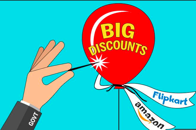 Discounts from Amazon and Flipkart
