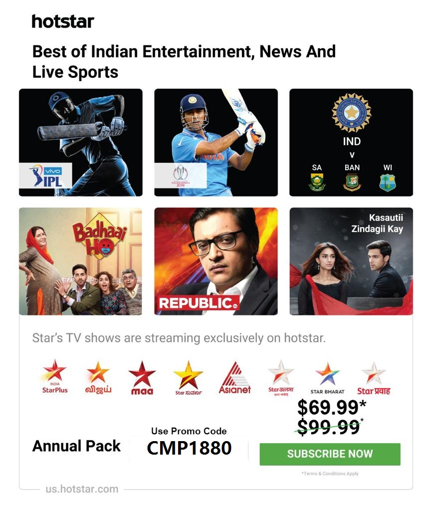 HotStar USA Promo Code 40% Discount and Free Amazon Gift Card