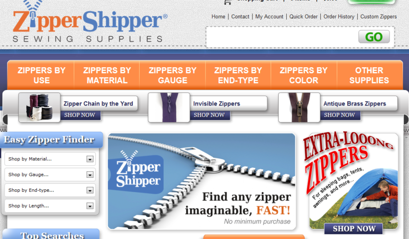 Bulk Zippers ZipperShipper