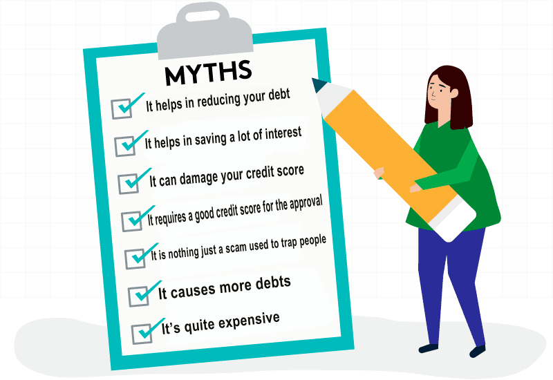 Myths related to Debt consolidation that needs to be clarified