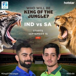 Hotstar India South Africa Series
