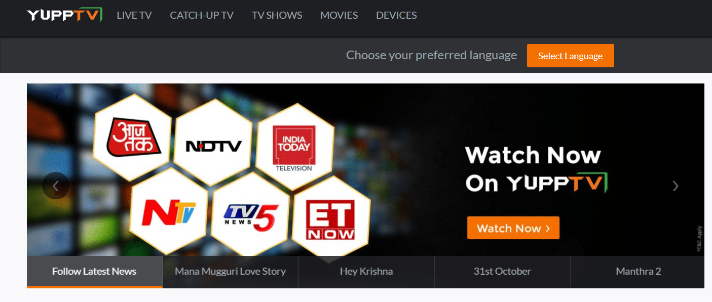 YuppTv - Indian Channels in USA